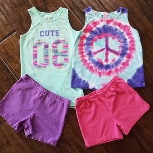 Girls Tank Tops and Shorts Bundle Size 6